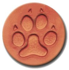 """RYCRAFT 2"""" Round Cookie Stamp with Handle & Recipe Booklet--PAWPRINT"""