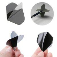 30 Stk. Dart Flights Set 10 Schwarz Flight Steeldart Standard Form Softdart neu