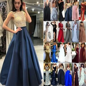 Women Lace Formal Wedding Cocktail Evening Ball Gown Prom Dress Bridesmaid Party