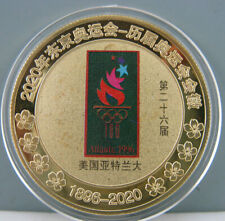 1996 Atlanta Olympic Commemorate Gold Colour Badge Coin