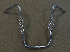 Chrome Lowrider Bike Handlebar With Cages Polo Stingray 1 Inch Center 14.5 Tall