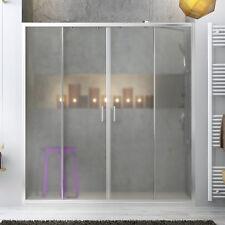 Nicchia doccia 180 cm porta scorrevole per box doccia cristallo stampato 185 h