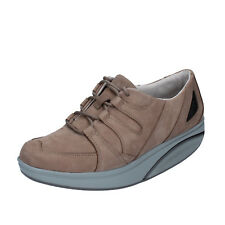 scarpe donna MBT 36 EU sneakers beige scuro nabuk performance AB444-D