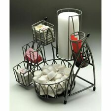 "Hubert® Arctistic Collection Flint Powder-Coated Metal Condiment Holder - 10""L x"