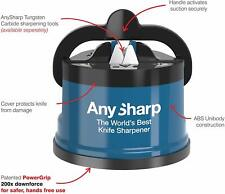 Knife Sharpener With PowerGrip Blue High Precision Safe Manual TOP UK