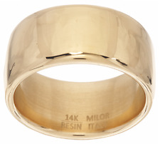 ORO NUOVO 14K YELLOW GOLD WIDE POLISHED BAND RING SIZE 8 QVC