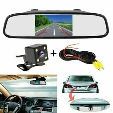 4.3 in LCD Rear View Mirror Monitor & Car HD IR Reverse Parking Backup Camera