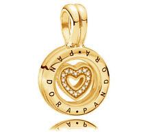 Genuine PANDORA Floating Locket Charm 14k Gold Vermeil 792144CZ Pendant Charm