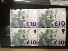 Ten Pounds block of 4 mint unused stamps Britannia from Britain Uk