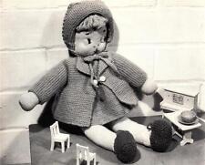 1950's DOLL & CLOTHES / MIRANDA - COPY toy knitting pattern
