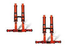 "Dragonfire Racing Orange Pair H-Style 4 Point 2"" Seat Belt Harnesses Universal"