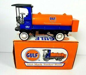 ERTL Gulf 1910 Mack Truck Tanker Diecast Bank Gasoline Petroliana 1996 NIB