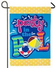 New listing Pool Time 14L4849 Linen Garden Flag 12.5� x 18�