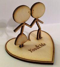 5th Wood Wedding Anniversary/Valentines Personalised Figurine Gift
