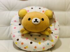 "Cute Rilakkuma Vanilla Polka Dotted Donut 15"" Plush Stuffed Animal NWT Round 1"