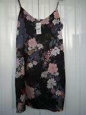 Pimkie Floral Satin Chemise Slip Dress Size M