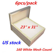 6 Pack 23 X 31 Aluminum Frame Silk Screen Printing Screens 160 White Mesh