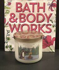 Bath & Body Works~Marshmallow Fireside 14.5 Oz Scented Candle W/ Essential Oils