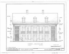 House plans - traditional Antebellum Mansion southern living - printed drawings