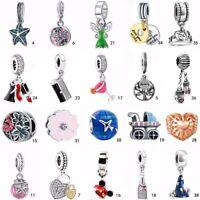 2PCS Lot Charm Bead European pendant FOR 925 Silver Charms bangle Bracelet chain