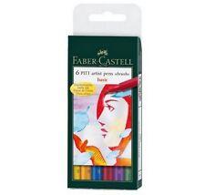 Faber-Castell 6 Pitt Artist Pens Basic Brush Set Set of 6 Pens ~ KNOCKOUT CRAFTS