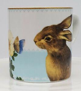 WILLIAMS SONOMA: Coffee Mug / Cup Rabbit & Roses, Fr the Mixed Spring Garden Set