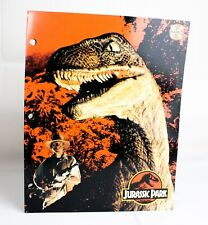 Vintage Rare JURASSIC PARK School Folder Board Game Pocket Portfolio - 1992