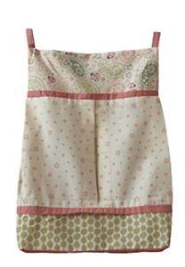 Kenneth Brown LADYBUG PAISLEY Diaper Stacker Nursery Decor NEW Pink Green