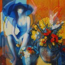 """Jean-Baptiste VALADIE : """"Manon aux fleurs"""" # LITHOGRAPHIE ORIGINALE SIGNEE et N°"""