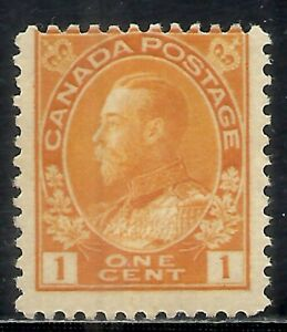 CANADA SCOTT 105 MNH FINE - 1922 1c ORG YELLOW KING GEORGE V ISSUE    CAT $40