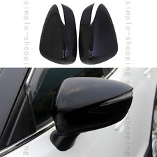 2x Black Look Rearview Door Side Mirror Cover Cup Trim For Mazda CX-5 CX5 15-16