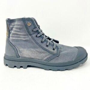 Palladium Palladenim Forged Iron Gray Mens Size 10.5 Chukka Boots 76230 014