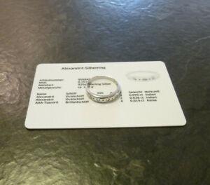 Silberring Alexandrit + AAA-Tsavorit 925er Sterling Silber Ring Gr. 56,5 Juwelo