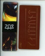 Medium ZOX Silver Strap DRACONUS ANGELUS Wristband with Card Reversible