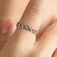 WOMEN HOLLOW LOVE HEART STACKING THUMB FINGER RING WEDDING JEWELRY GIFT FUNNY