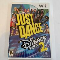 Just Dance: Disney Party 2 (Nintendo Wii, 2015) Tested & Working - Very Clean!