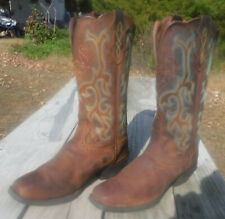 Justin Apache Stampede Womens 9 B Brown Square Toe Cowboy Boots L2552 TW1811