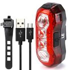 4 LED Bicycle Cycling Tail Lights Rear USB Rechargeable Red Warning Light Bike