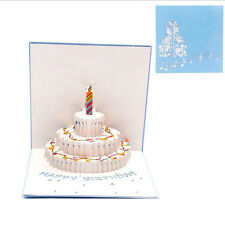 3D Pop Up Cake Greeting Card Christmas Wedding Valentine Birthday Invitation