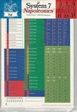 System 7 Napoleonics- Set N 4 German States I-Mint- GDW