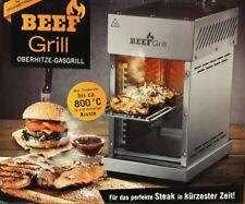 GOURMETmaxx Beef Grill Edelstahl Oberhitze Gasgrill - Silber (2523)