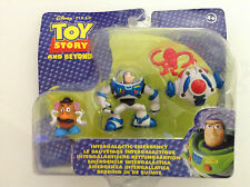 """TOY STORY AND BEYOND INTERGALACTIC EMERGENCY BUZZ MR.POTATO FIGURE SET 3"""" 2-PACK"""