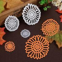 3pcs Sun Flower Cutting Dies Stencil DIY Scrapbooking Album Paper Card Crafts