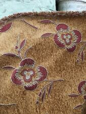 COPPER RED FLORAL CHENILLE UPHOLSTERY FABRIC (54 in.) Sold By The Yard