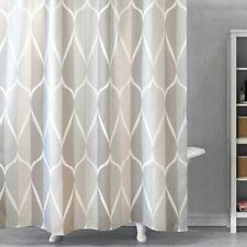Waterproof Shower Curtain With 12 Hooks Geometric Printed Bathroom High Quality