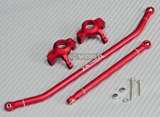 For Axial Wraith Scorpion SMT10 Front ALUMINUM KNUCKLES + STEERING ARMS -RED