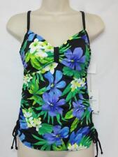 NWT Caribbean Joe Island Supply Co. Tankini Top Multi Color Floral Print Size 8