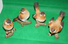 Tierfiguren Figuren Vögel auf Zweig 4erSet bis 10,5 cm hoch verschiedene Motive