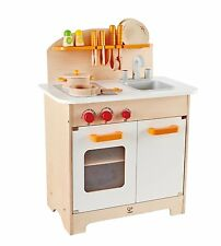 Hape E8116 Gourmet Chef Kitchen And Cookware Wooden Play Set Kids Pretend Play