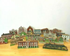 Reinbrook and Twig Town Buildings Wood St Charles MO Landmarks Replicas Lot CSH